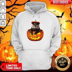 Halloween Otter Pumpkin Hoodie