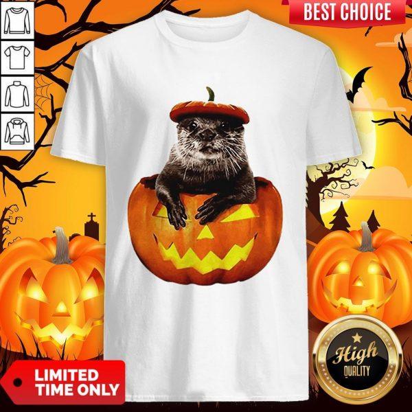 Halloween Otter Pumpkin Shirt