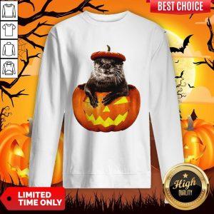 Halloween Otter Pumpkin Sweatshirt