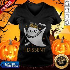 Halloween Ruth Bader Ginsburg I Dissent V-neck