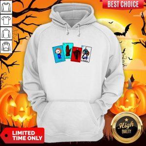 Halloween The Characters Horror Card Hoodie