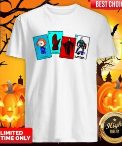 Halloween The Characaters Horror Card Shirt