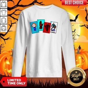 Halloween The Characters Horror Card Sweatshirt