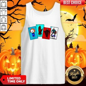 Halloween The Characters Horror Card Tank TopHalloween The Characters Horror Card Tank Top