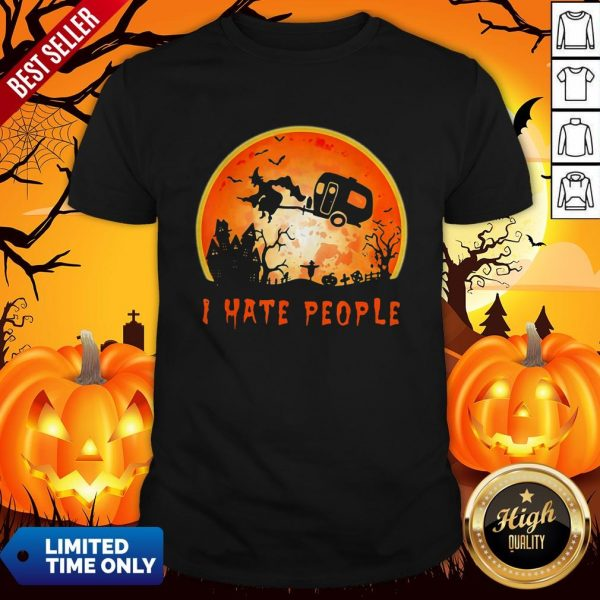 Halloween Witch I Hate People Moon ShirtHalloween Witch I Hate People Moon Shirt