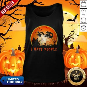 Halloween Witch I Hate People Moon Tank TopHalloween Witch I Hate People Moon Tank TopHalloween Witch I Hate People Moon Tank Top