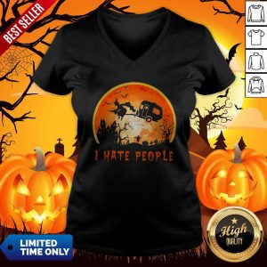 Halloween Witch I Hate People Moon V-neckHalloween Witch I Hate People Moon V-neckHalloween Witch I Hate People Moon V-neck