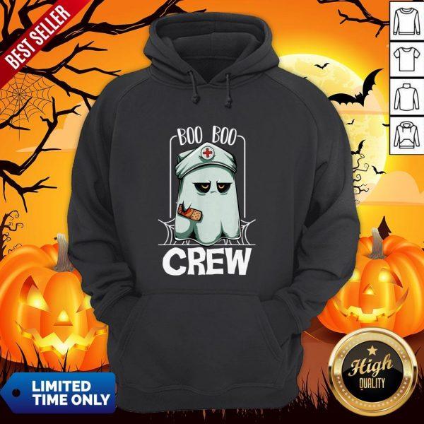 Hot Halloween Ghost Nurse Boo Boo Crew Hoodie
