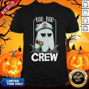 Hot Halloween Ghost Nurse Boo Boo Crew Shirt