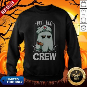 Hot Halloween Ghost Nurse Boo Boo Crew Sweatshirt