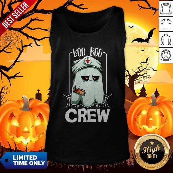 Hot Halloween Ghost Nurse Boo Boo Crew Tank Top