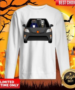 Invisible Man Family Drive In The Car Halloween Day Sweatshirt