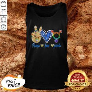 LGBT Lesbian Gay Bisexual Peace Love Gift Apparel Tank Top