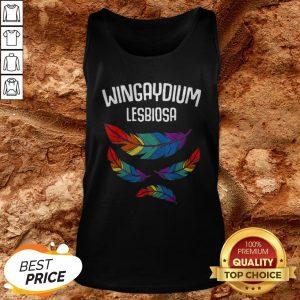 Lgbt Pride Lesbian Love Wingaydium Lesbiosa Rainbow Tank Top