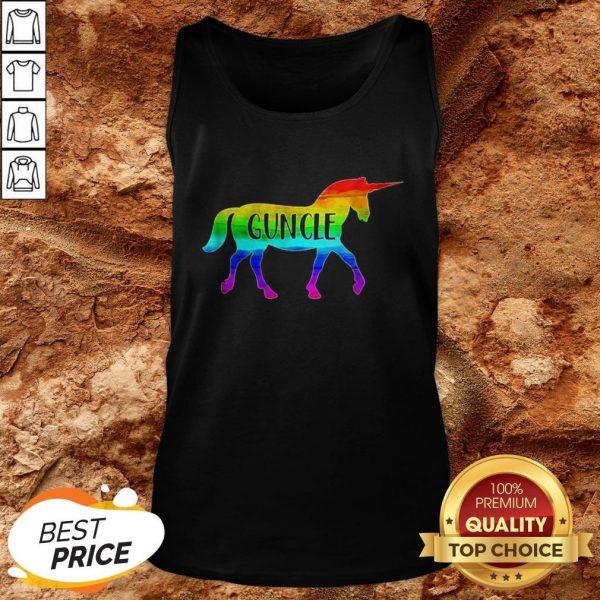 LGBT Proud Guncle Unicorn Tank Top