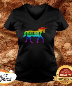 LGBT Proud Guncle Unicorn V-neck