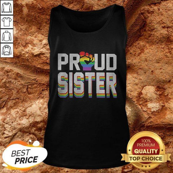 LGBT Proud Sister Fist Tank Top