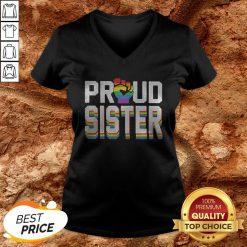LGBT Proud Sister Fist V-neck