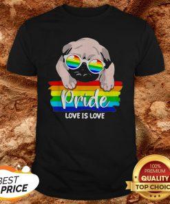 LGBT Pug Pride Love Is Love Shirt