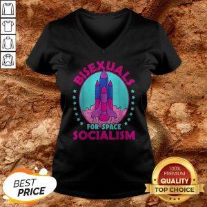 LGBTQ Pride Bisexuals For Space Socialism V-neck
