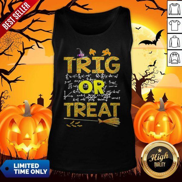 Math Teacher Trig Or Treat StudentSchool College Halloween Tank Top