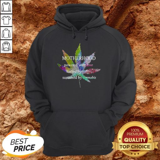 Motherhood Love Fueled By Coffee Sustained By Cannabis Hoodie
