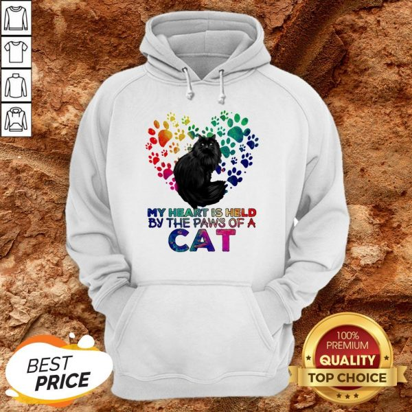 My Heart Is Held By The Paws Of A Cat LGBT Hoodie
