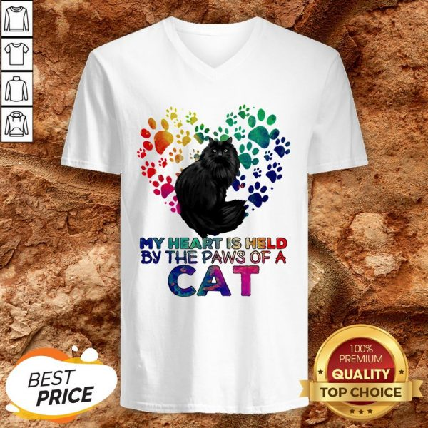 My Heart Is Held By The Paws Of A Cat LGBT V-neckMy Heart Is Held By The Paws Of A Cat LGBT V-neck