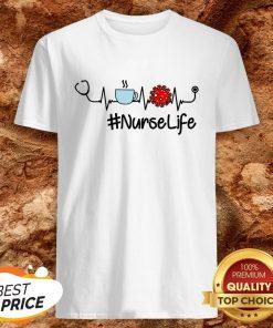 Nurse Life Coffee Nursing Heartbeat Love Shirt