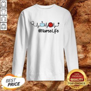 Nurse Life Coffee Nursing Heartbeat Love Sweatshirt