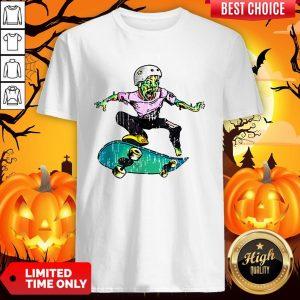 Original Halloween Skateboarder Costume Kids Gift Shirt