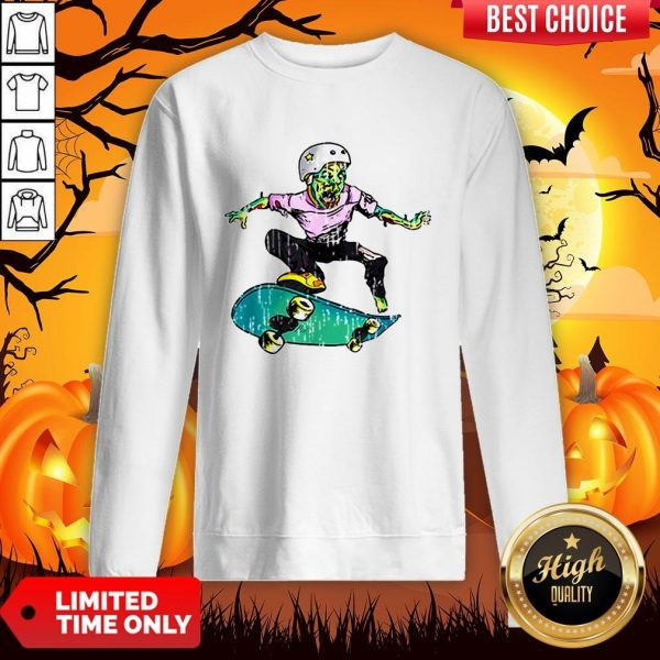 Original Halloween Skateboarder Costume Kids Gift Sweatshirt