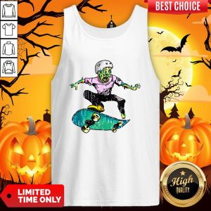 Original Halloween Skateboarder Costume Kids Gift Tank Top