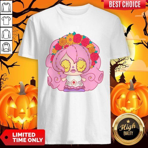 Pretty Pink Dia De Muertos Day Of The Dead Sugar Skull Shirt