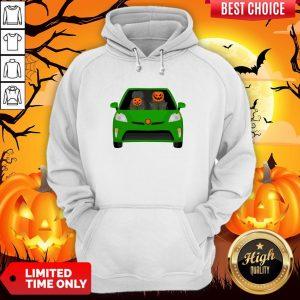 Pumpkin Family Drive In The Car Halloween Hoodie