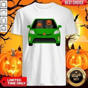Pumpkin Family Drive In The Car Halloween Shirt