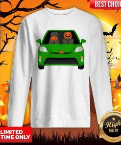 Pumpkin Family Drive In The Car Halloween Sweatshirt