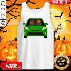 Pumpkin Family Drive In The Car Halloween Tank Top