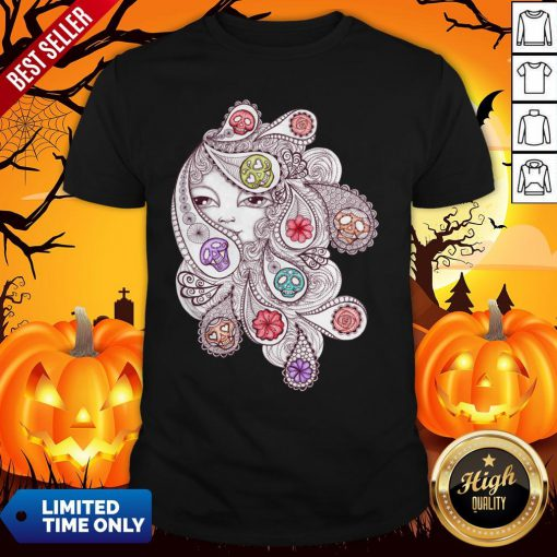 Skeleton Waves Day Of The Dead Dia De Los Muertos Shirt