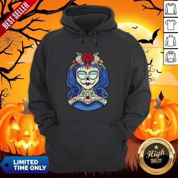 Sugar Skull Dia De Muertos Day Of The Dead Woman Halloween Hoodie