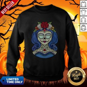 Sugar Skull Dia De Muertos Day Of The Dead Woman Halloween Sweatshirt