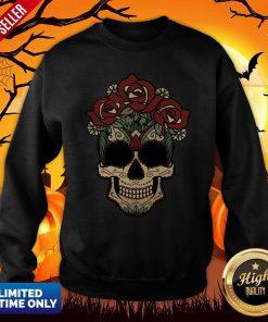 Sugar Skulls Flowers Day Of The Dead Dia De Los Muertos Sweatshirt