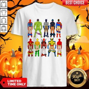 Superhero Butts Multicultural Experience Halloween Day Shirt