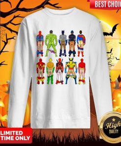 Superhero Butts Multicultural Experience Halloween Day Sweatshirt