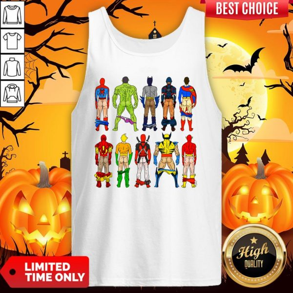 Superhero Butts Multicultural Experience Halloween Day Tank Top