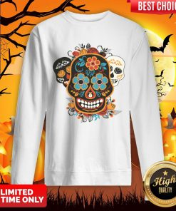 Talking Sugar Skulls Dia De Muertos Day Of The Dead Sweatshirt