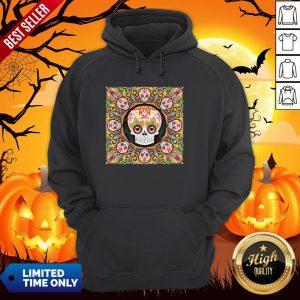 The Mexican Holiday Día De Muertos Sugar Skull Mandala Hoodie