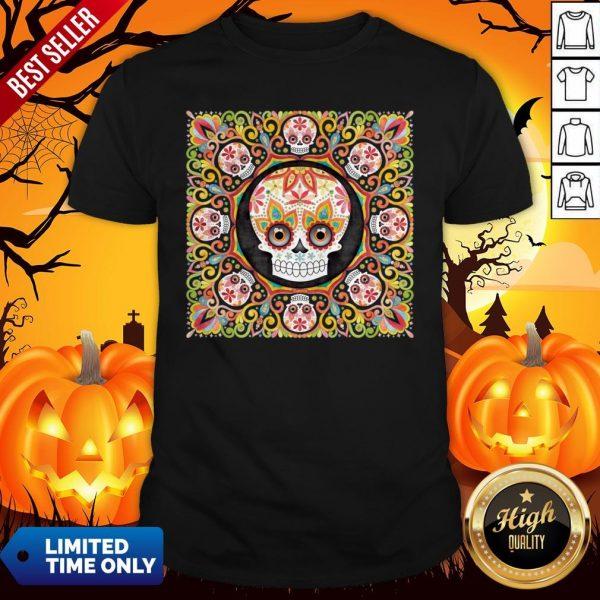 The Mexican Holiday Día De Muertos Sugar Skull Mandala Shirt