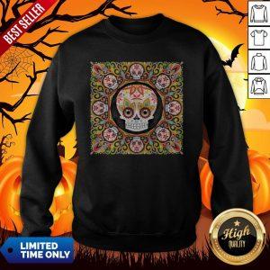 The Mexican Holiday Día De Muertos Sugar Skull Mandala Sweatshirt
