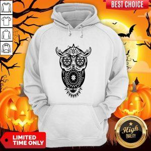 The Mexican Owl Sugar Skulls Dia De Los Muertos Day Dead Hoodie